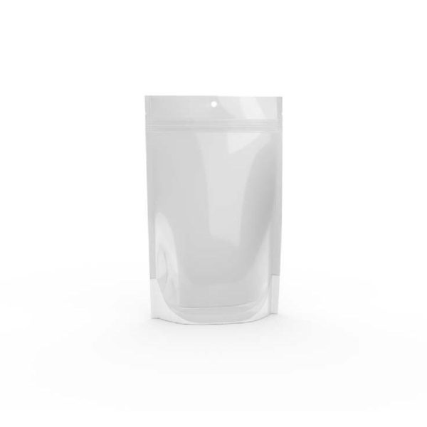 1.0 Oz. Bud Bag - Clear & Solid White 1 - Cannabis Packaging