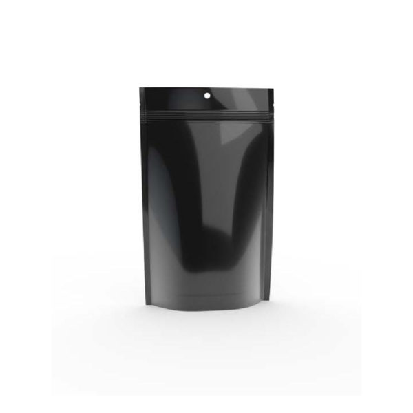 1.0 Oz. Bud Bag - Solid Black - Cannabis Packaging