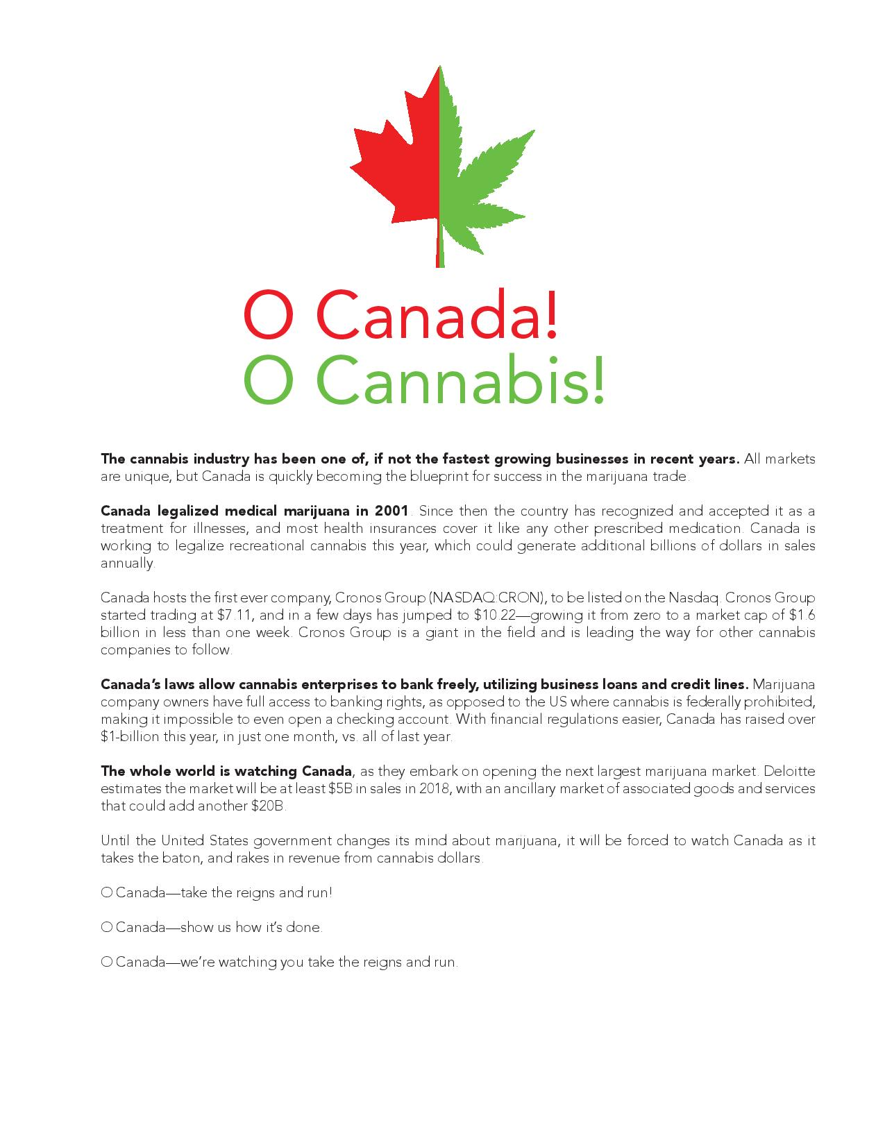 O Canada - O Cannabis - Cannabis Packaging