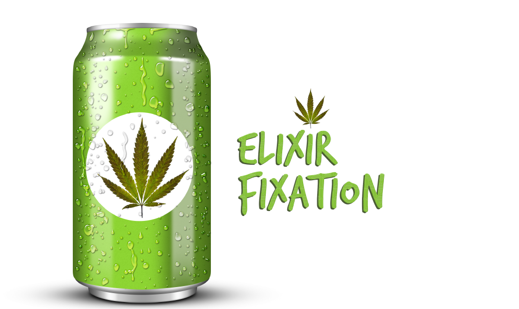 Elixir Fixation - Cannabis Drink Packaging