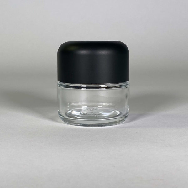 Clear Body Black Top, Jars for Cannabis Packaging
